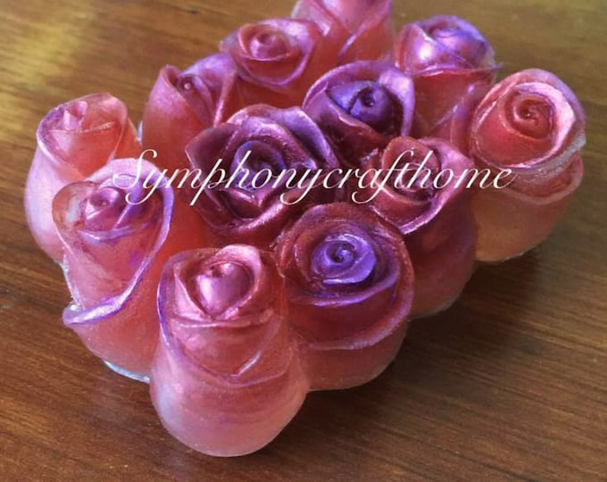 rose bud silicone mold, 9 cavity rose mold, rose bar silicone mold, soap silicone mold, resin rose mold, rose bad mold, rose soap mold
