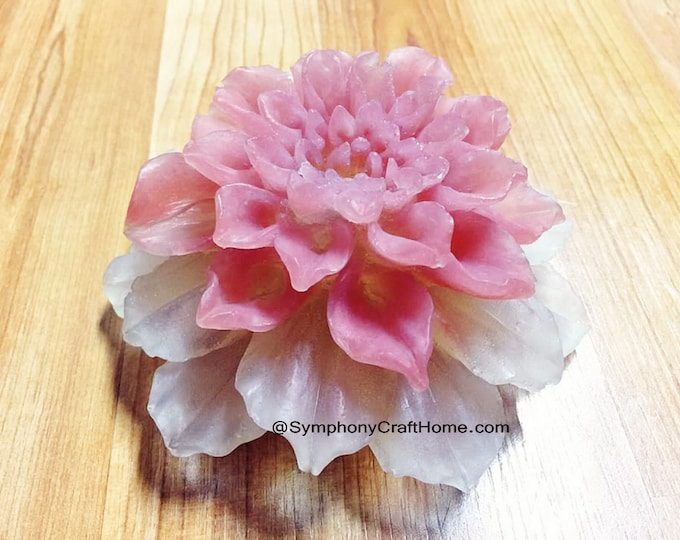 3D dahlia mold, big 3D Succulents mold, Valentine's mold, resin mold, candle mold, magnolia mold, dahlia flower mold, 3D silicone mold