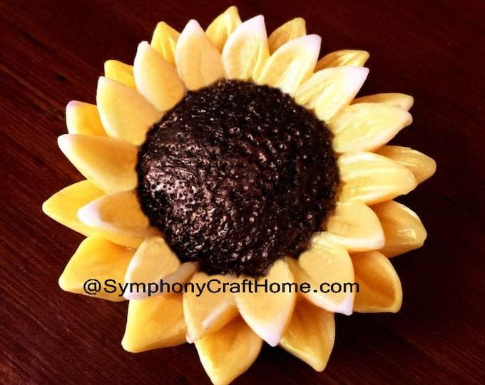 3D sunflower mold, sunflower soap mold, sunflower silicone mold, flower mold, soap mold, candle mold, tart mold, silicone soap mold