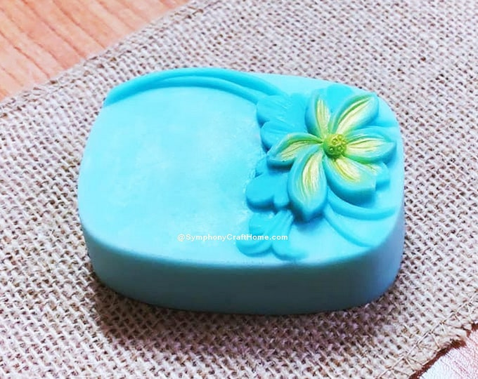 Lotus mold, soap mold, silicone soap mold, flower soap mold, resin mold, gelatin mold, U.S.A made, food grade mold,rose water flower mold