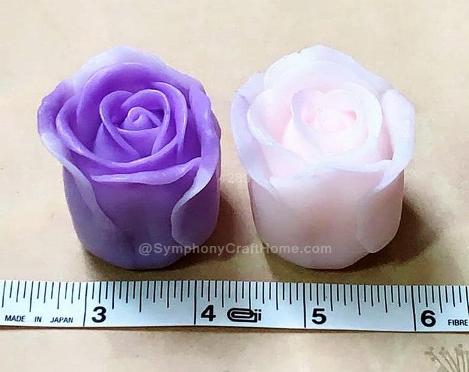 rose bud mold, rose bud silicone mold, rose bud soap mold, 3D rose mold, rose candle mold, resin mold