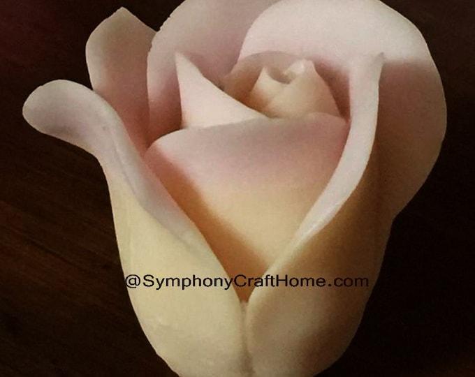 3D Rose Bud mold, 3D rose mold, rose soap mold, rose candle mold, rose fondant mold, silicone mold, #soap mold, rose mold, symphonycrafthome