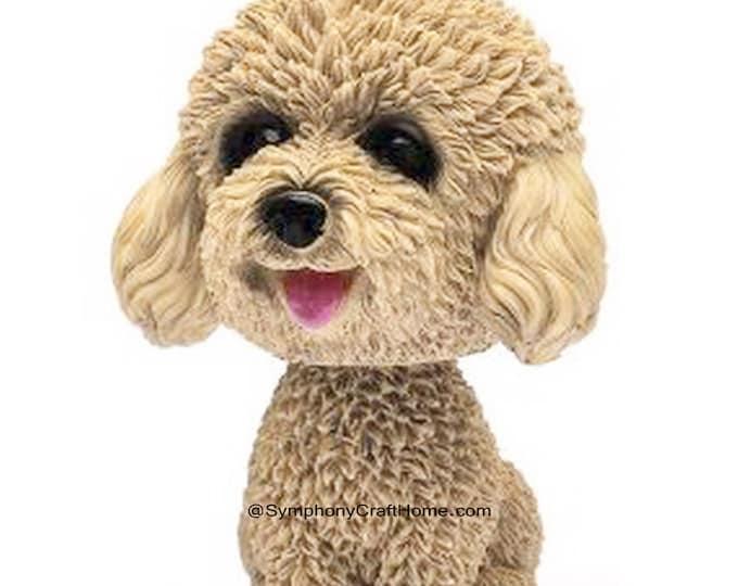3D dog  mold, 3D teddy poodle mold, 3D poodle mold, puppy mold, dog mold, resin dog mold, candle mold, silicone mold, gelatin dog mold