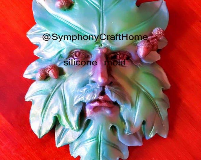 Avatar man face, leaf mold, silicone soap mold, resin mold, polymer mold, soap mold, leaf man avatar