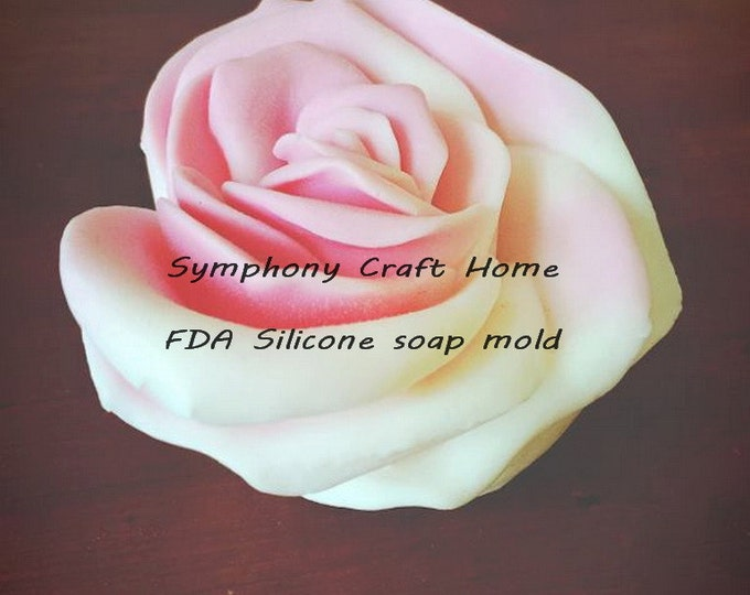 3D Big rose heart mold, 3D Rose heart mold, 3D rose mold, candle mold, Valentine's heart mold, resin, wax mold, sugar fondant mold