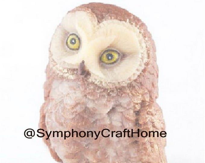 3D owl mold, owl silicone mold, animal silicone mold, owe resin mold, bird mold, candle mold #owlmold