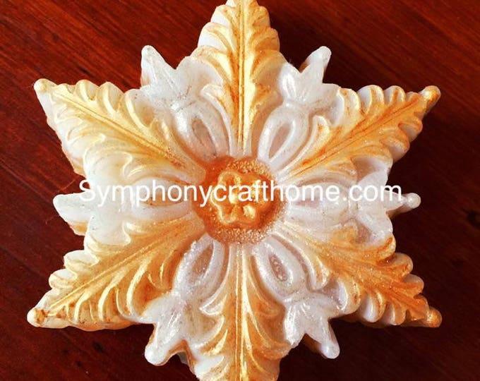 big snowflake silicone mold, flower silicone mold, snowflake mold, Christmas mold, handmade soap mold
