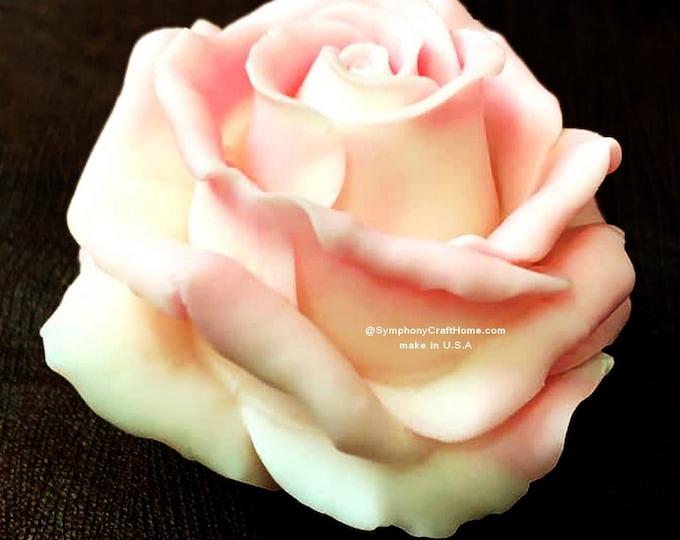 make in U.S.A 3D rose mold, Large rose mold, flower mold, wax mold, rose soap mold, big 3D rose mould, rose candle mold, gelatin rose mold