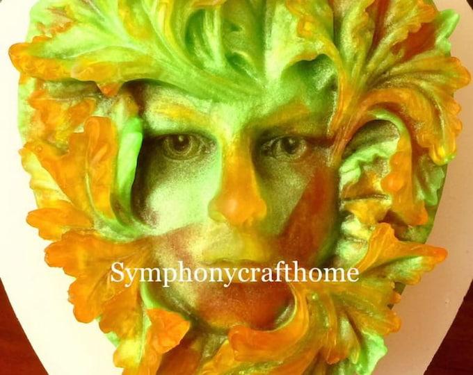 woman face leaf mold, Avatar woman mold, silicone soap mold, Art mold, resin woman face mold, polymer clay mold, soap mold