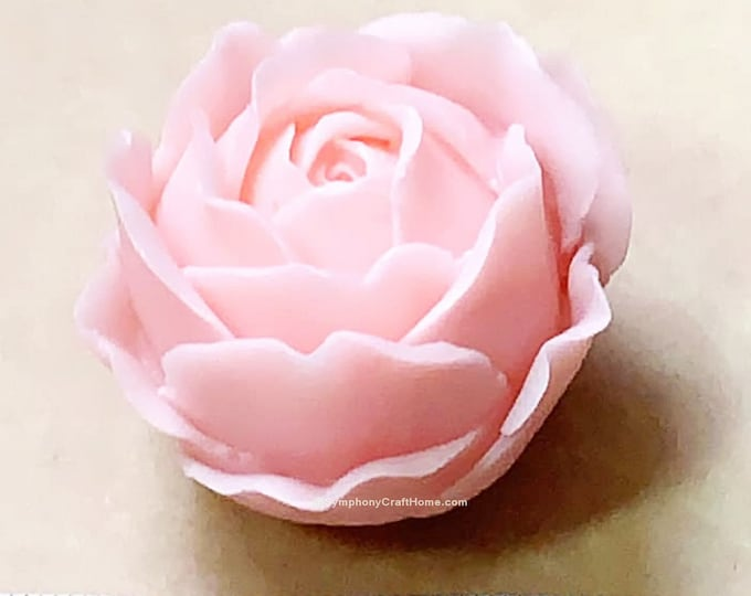 3D rose mold, 3D rose silicone mold, rose candle mold, gelatin rose mold, flower mold, wax mold, U.S.A rose silicone mold, rose soap mold