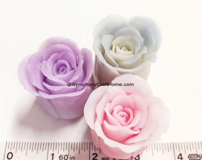 3D rosebud mold, 3D rose mold, rose soap mold, rose candle mold, rose fondant mold, silicone mold, #soap mold, #rose mold, gelatin rose mold