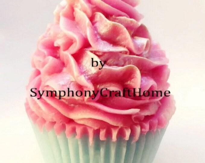 cupcake mold, 3D cupcake mold, ice cream mold, soap mold, big cupcake mold, resin cupcake mold, polymerclay mold
