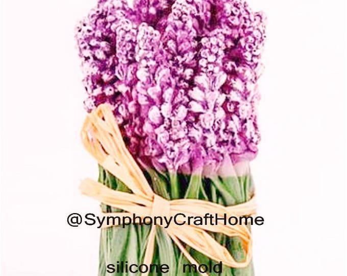3D Lavender mold, lavender bouquet silicone mold, Lavender flowers mold, lavender soap mold, Lavender candle mold, silicone soap mold, gift