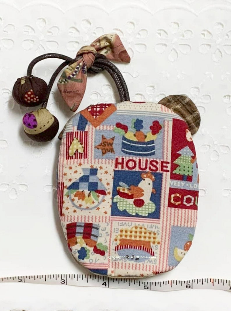 patchwork key cover Japanese cotton fabric cute handmade key holder Key holder patchwork cute bear key case gift handmade key cover