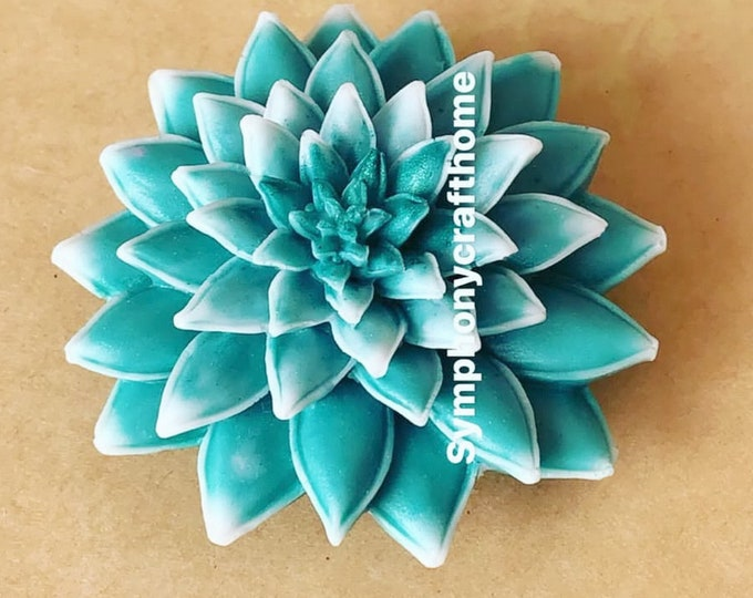 Made in U.S.A, 3D succulent silicone mold, plant mold, soap mold, cactus silicone mold, candle succulent mold, resin mold, gelatin mold