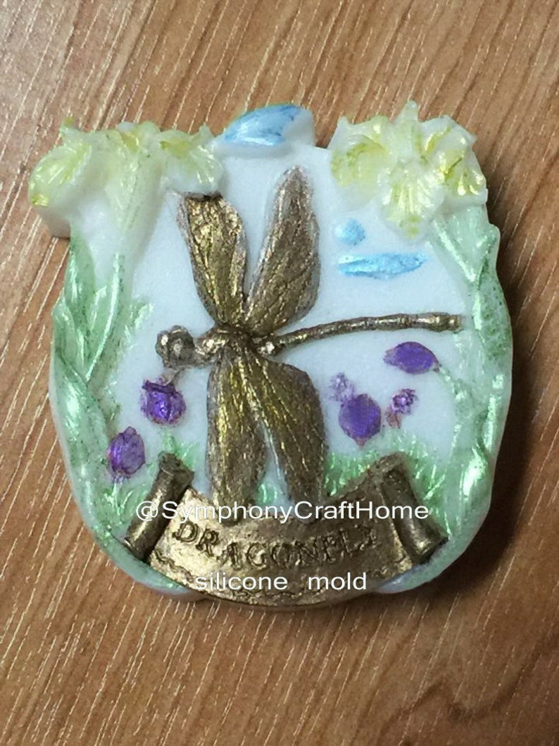 spring mold # flower dragonfly mold flower and dragonfly mold Dragonfly mold silicone soap mold resin mold soap mold