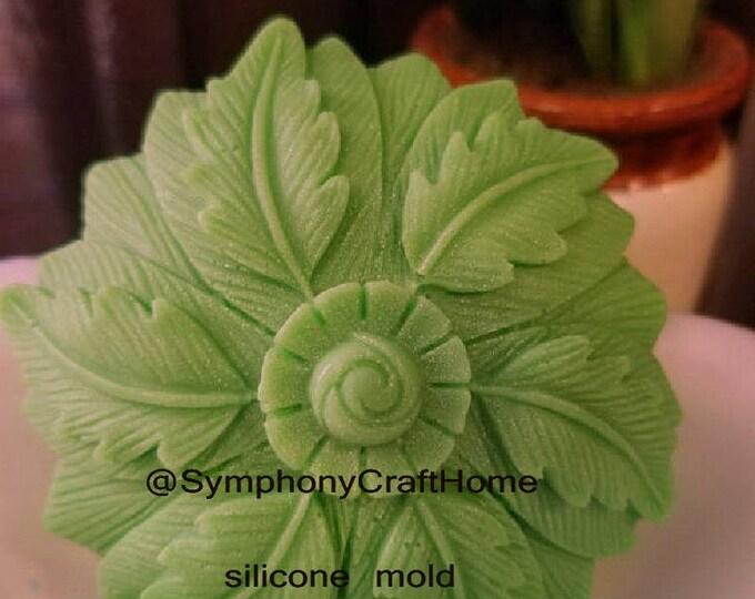big leaf silicone mold, round leaf mold, soap silicone mold, resin silicone mold, clay silicone mold, flower mold, leaf mold