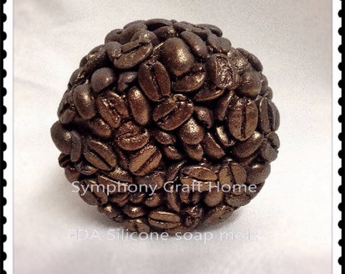 Coffee beans silicone mold, soap mold, tart wax mold, Silicone soap mold, coffee resin mold