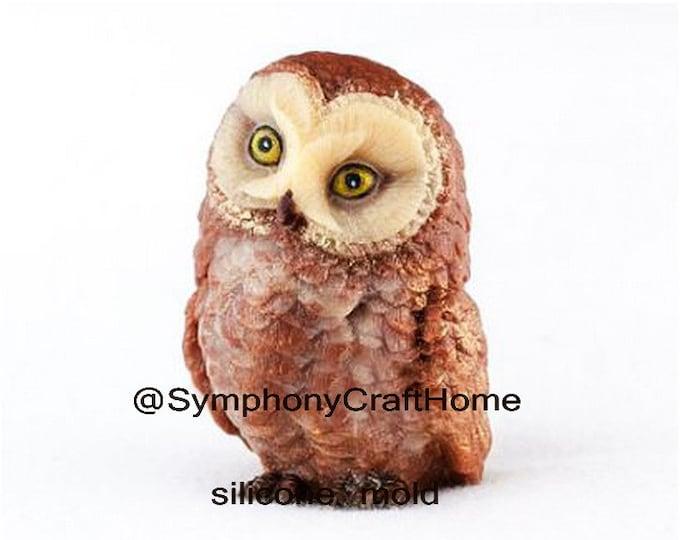 3D owl mold, owl silicone mold, animal silicone mold, owl resin mold, bird mold, candle mold #owl mold