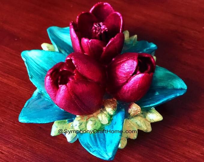 3D tulip bouquet mold, tulip silicone mold,  tulip soap mold, tulip resin mold, tulip gelatin mold, 3D flower mold, #tulip bouquet mold