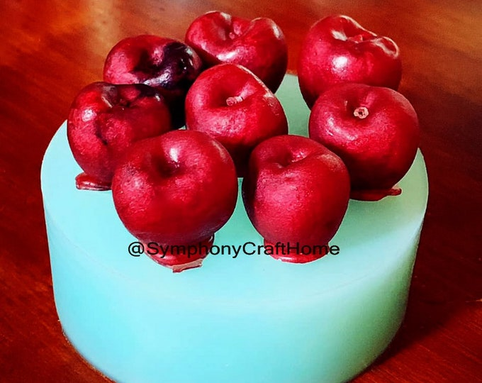 3D Cherry mold, real size cherry mold, cherry soap mold, wax mold, cherry silicone mold, gelatin mold, embed mold, #cherry mold, candy mold