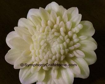 3D Mum flower mold, chrysanthemum soap mold, wax tart mold, candle mum mold, soap mold, flower mold, fondant flower mold, Mum fondant mold