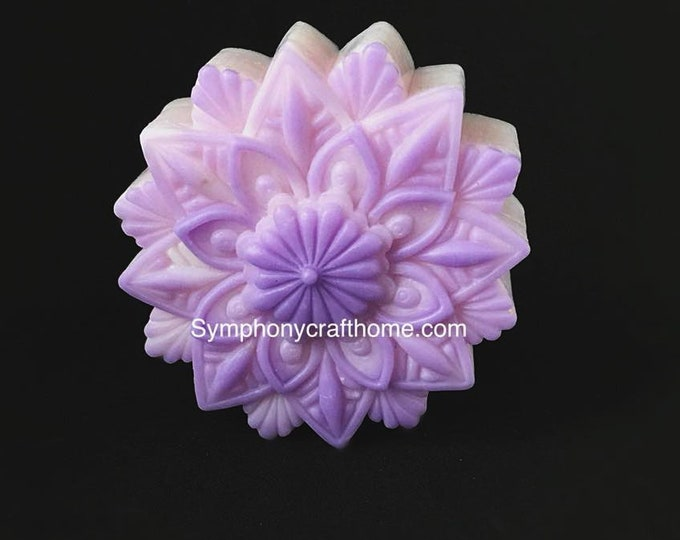 snow flower mold, silicone soap mold, #flower mold, cake gelatin mold, sugar craft mold, resin mold, polymer clay mold ship from U.S.A