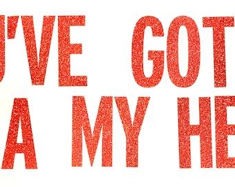 PIZZA MY HEART Glitter Banner | Birthday Decor | Pizza Party | Birthday Party | Pizza Birthday | Pizza My Heart |