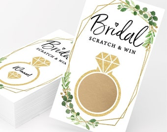 Gold Greenery Scratch Off Game   Set of 30