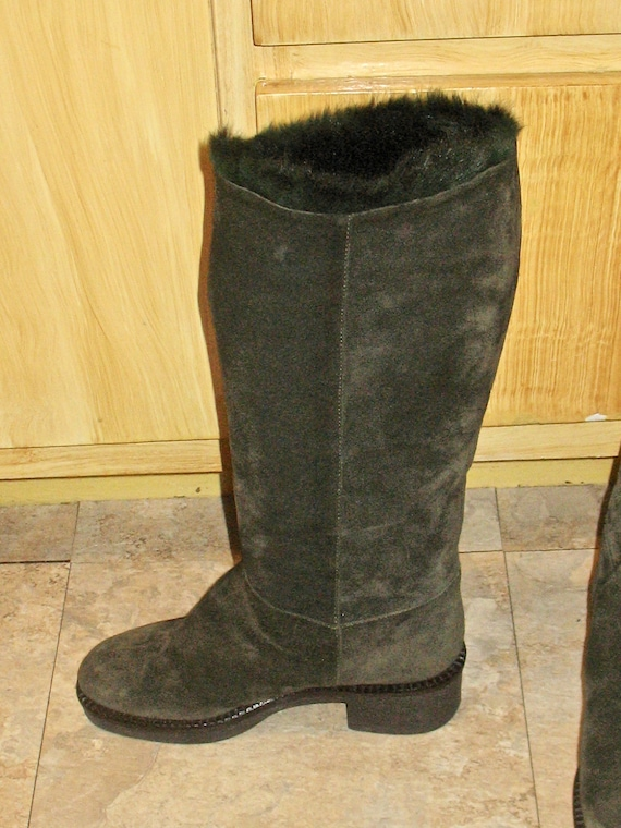 1980s Suede Boots, Vintage Boots, 90s Boots in Ex… - image 10