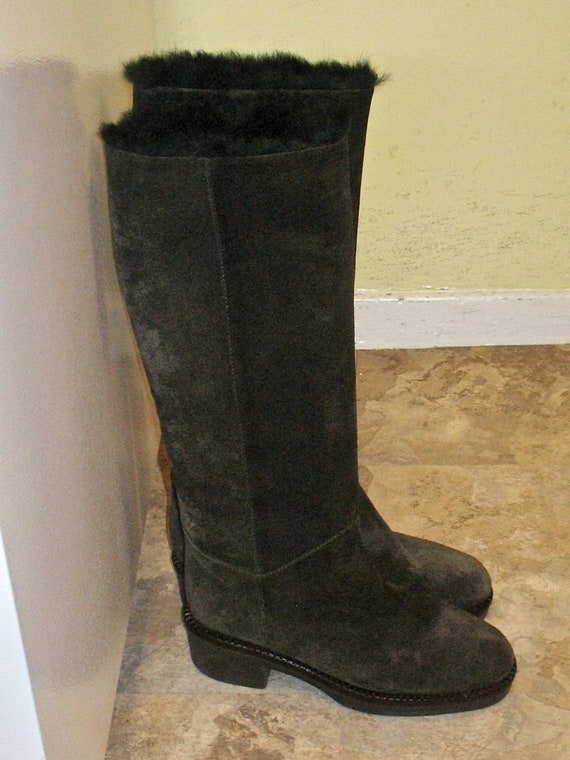 1980s Suede Boots, Vintage Boots, 90s Boots in Ex… - image 4