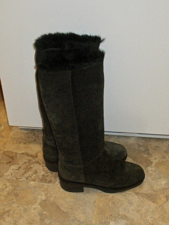 1980s Suede Boots, Vintage Boots, 90s Boots in Ex… - image 3