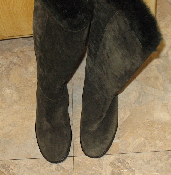 1980s Suede Boots, Vintage Boots, 90s Boots in Ex… - image 8