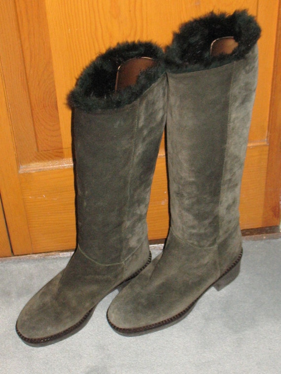 1980s Suede Boots, Vintage Boots, 90s Boots in Ex… - image 6