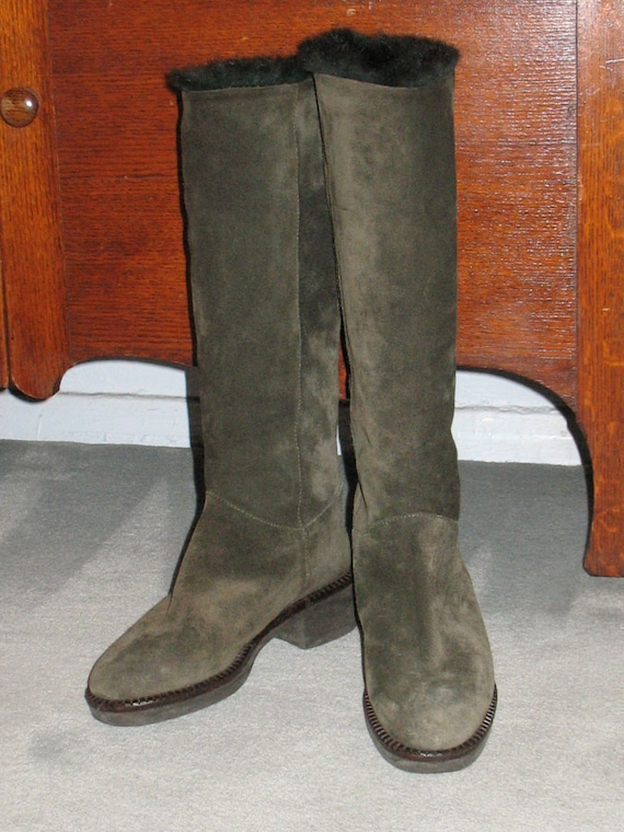1980s Suede Boots, Vintage Boots, 90s Boots in Ex… - image 5