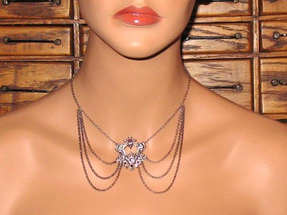 PRIMROSE 2 intricate victorian chain necklace