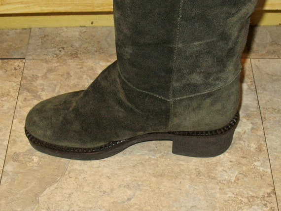 1980s Suede Boots, Vintage Boots, 90s Boots in Ex… - image 9