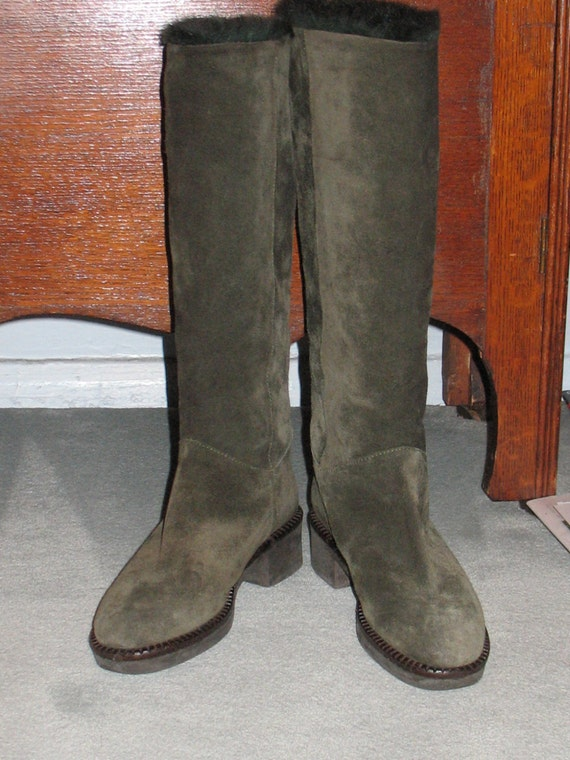 1980s Suede Boots, Vintage Boots, 90s Boots in Ex… - image 7