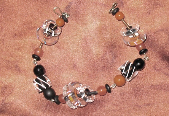 1990s Bead Bracelet, 1980s, 1980s Artisan Bead Bra