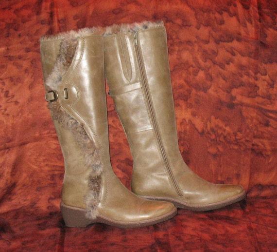 FIORUCCI Boots, Vintage Boots, 1980s Designer Boot
