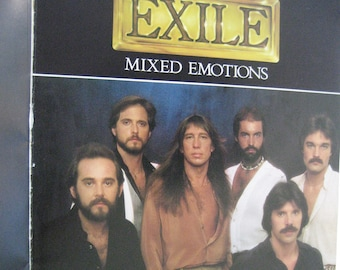 EXILE Songbook, MIXED EMOTIONS Songbook, Rock Band Music Book, Hit Songs, Exile Songbook, Kiss You All Over, Piano Vocal Chords, 1978