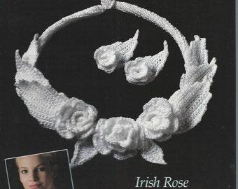 Thread CROCHET IRISH JEWELRY Pattern Leaflet - Irish Rose Necklace - Crochet Cotton (not a pdf) - 1987 Annies Attic - An Original by Annie