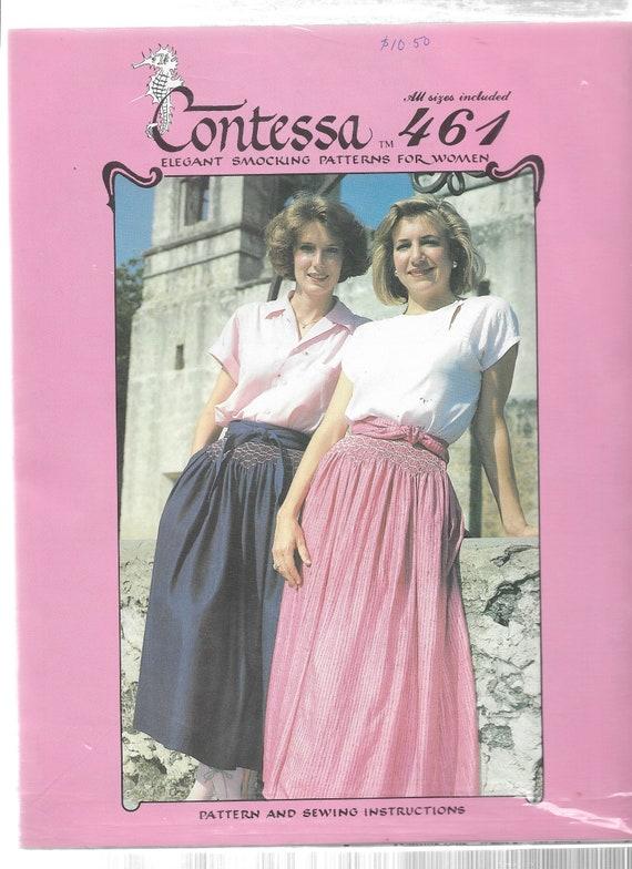 SMOCKED SKIRT PATTERN Skirt Sewing Pattern Smocking Etsy Amazing Smocking Patterns