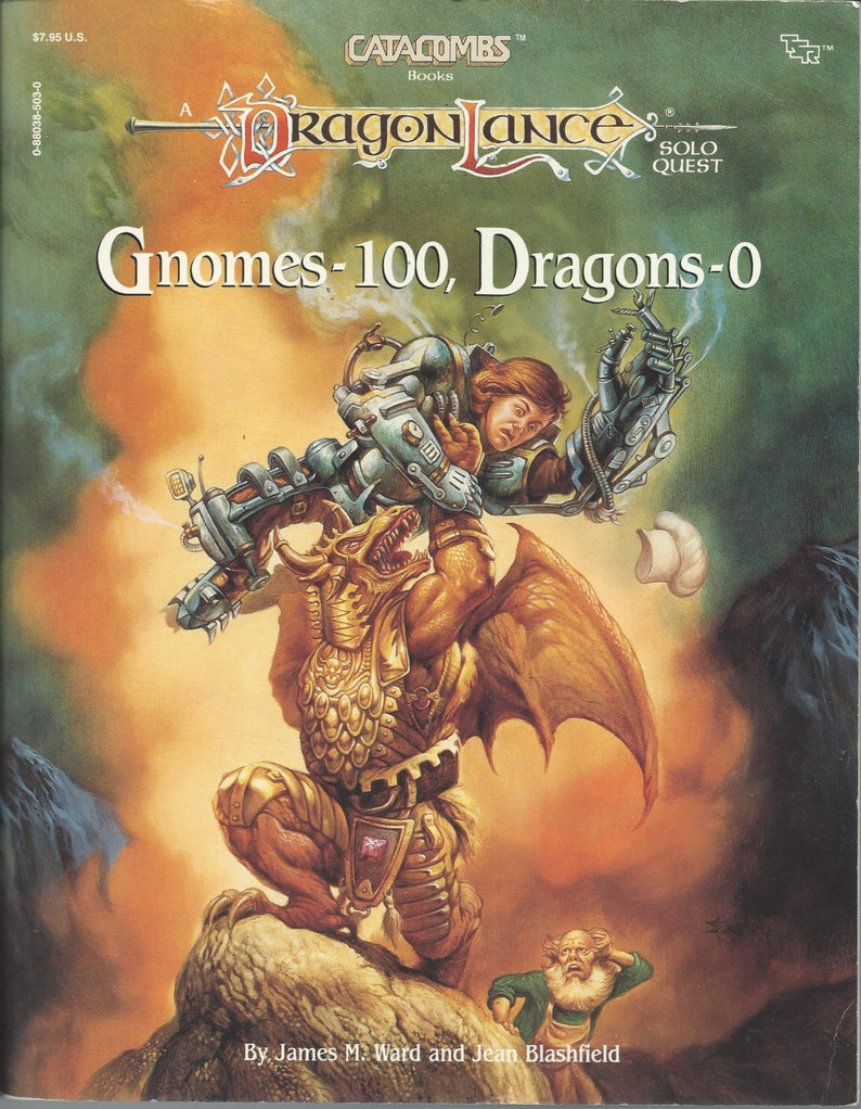 Dungoens and Dragons Catacombs Book, Forgotten Realms GNOMES DRAGONS,  Dragon Lance, Solo Quest Module Catacombs D&D c  1987