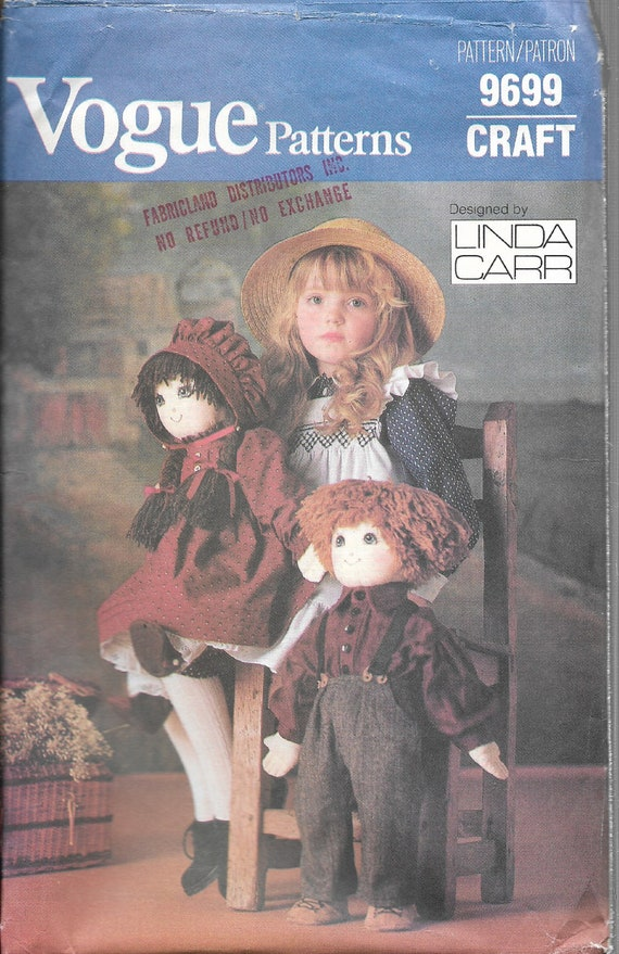 Vogue 8144 18 Doll Clothes Sewing Pattern Linda Carr Jacket Coat Muff Boots V8144