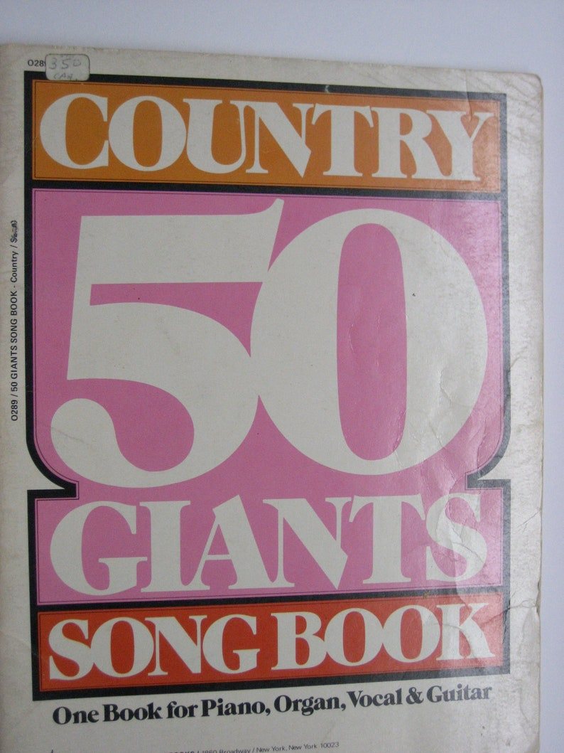 1970s COUNTRY 50 GIANTS SONGBOOK One Book for Piano Organ image 0