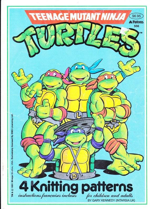 Pattern Teenage Mutant Ninja Turtles Knitting Graph Patterns Etsy