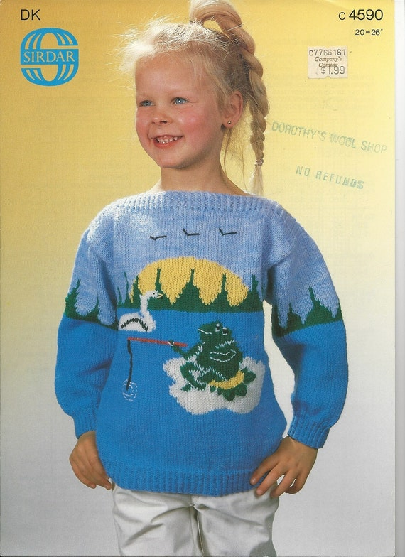 Knitting Pattern Graph Pattern Frog Pullover Sweater Etsy