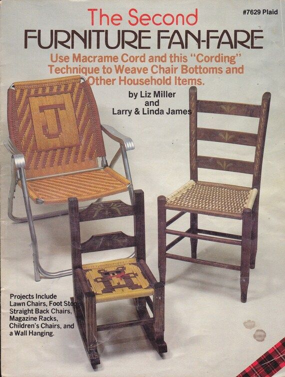 Pattern: MACRAME CORD WEAVING For Chairs And Other Household | Etsy
