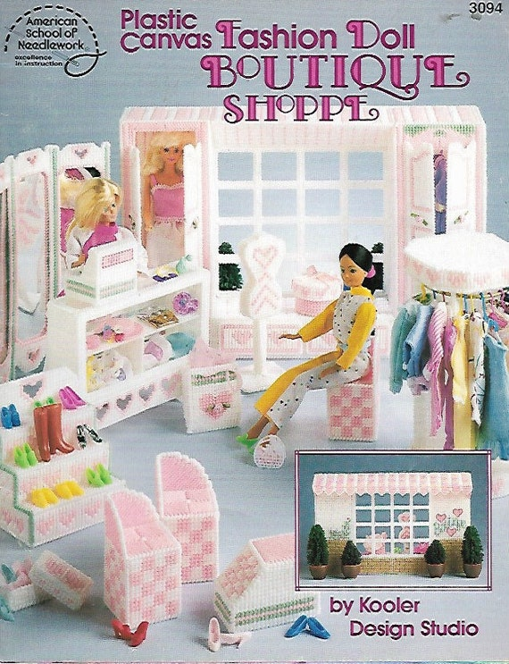 Boutique Carry /& Play for Barbie Doll Plastic Canvas PATTERN//INSTRUCTION Booklet